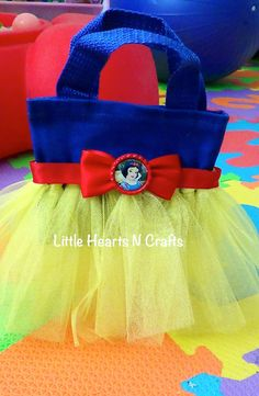 Snow White Inspired Tutu Purse Canvas Tote por LittleHeartsNCrafts, $8.50