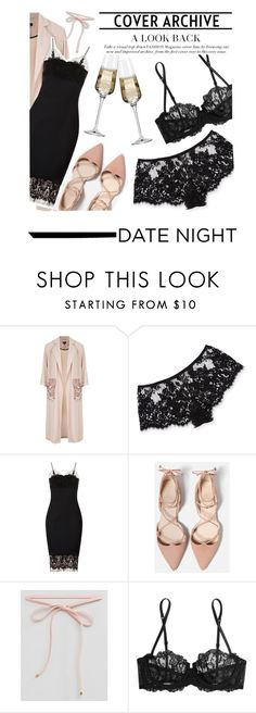 """""""Enter contest Save Draft Open New       WomenMenHomeMy ItemsCollectionsContest Hot Date Night Style"""" by sissy-couture ❤ liked on Polyvore featuring Topshop, I.D. SARRIERI, Victoria Beckham, Johnny Loves Rosie, La Perla, Krosno and DateNight"""