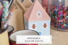 imprimible: caja de casita