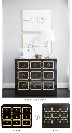 @1stdibs Dorothy Draper Espana Chest | $2,500 Vs @walmart  Safavieh Akia Chest | $317