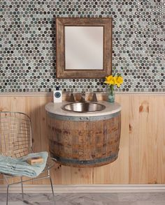 Lots of fun and interesting ideas on this post from living off the grid... I especially like this barrel sink for a tiny house thouhh