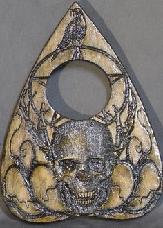 Lord Mocks Skull and Raven Planchette Spirit by LordMockDesigns