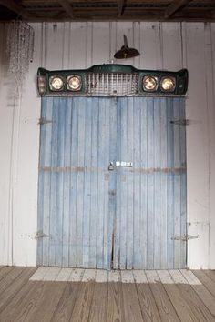 The Junk Gypsies used a Thunderbird car grill as a light fixture at the Junk-O-Rama Prom. See more photos from the Prom  http://www.gactv.com/gac/shows_hjkgp/article/0,3561,GAC_45849_6072551_01,00.html