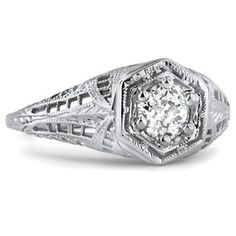 18K White Gold The Gelace Ring