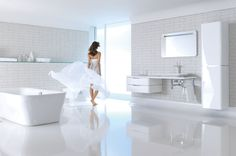 Master Bath | Hansgrohe PuraVida Bathroom Collection | PuraVida is the latest collection from the Hansgrohe brand – & is trendsetting in terms of both form & function. | ShopStudio41.com