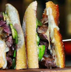 Our #Steak #Sandwich with #avocado, gruyere #cheese, caramelized onions and fries. You gotta try it - it's magnificent! #westvillage #nyc