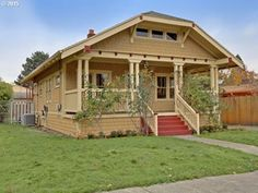 Roseway Craftsman Bungalow! Homes In Portland Oregon, Oregon House, Craftsman Homes, Craftsman Bungalows, Exterior Paint, Shed, Houses, Outdoor Structures, Architecture