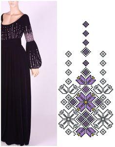 MIHAELA ANDREI Cross Stitch Designs, Cross Stitch Patterns, Folk Embroidery, Embroidery Designs, Cross Stitch Embroidery, Types Of Stitches, Palestinian Embroidery, Folk Fashion, Embroidered Clothes