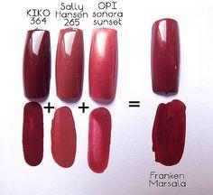 Marsala Frankenpolish: creiamo il colore dell'anno 2015 http://bit.ly/1BPbXgN #FrankenPolish #nailart