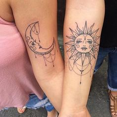39 Best Bohemian Sun And Moon Tattoos Meaning Images Coolest