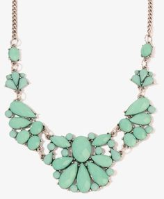 Turquoise statement necklace from FOREVER 21
