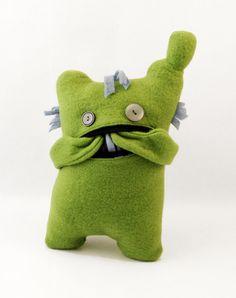 Green monster plushie Plush monster by HagerdesignAtHome on Etsy