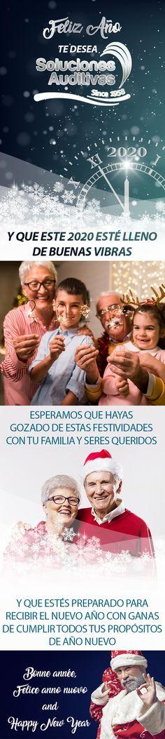 FELIZ AÑO NUEVO te desea Soluciones Auditivas Y que este 2020 esté lleno de buenas vibras  Esperamos que hayas gozado de estas festividades con tu familia y seres queridos, y que estés preparado para recibir el nuevo año con ganas de cumplir todos tus propósitos de año nuevo  Bonne année, Felice anno nuovo and Happy New Year   Estamos ubicados en Av. Cra 15 # 103-90. Ofic 413 en Bogotá. Tel: +57(1) 6110808   WhatsApp: 300 5260573 #SolucionesAuditivas Movies, Movie Posters, Audio, New Year's Resolutions, Happy New Year, Positive Vibes, Be Nice, Films, Film Poster