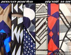 stylecouncil blog - Spring 15 Runway in Review - NYFW - Oversized Geometrics