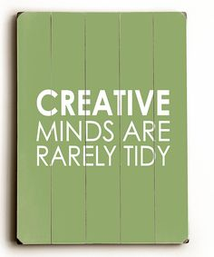 'Creative Minds' Wood Wall Art   Daily deals for moms, babies and kids