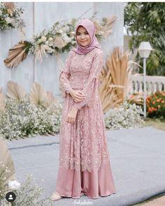Dress Brokat Muslim, Dress Brokat Modern, Kebaya Modern Dress, Kebaya Dress, Dress Pesta, Muslim Dress, Model Kebaya Brokat Modern, Model Kebaya Muslim, Kebaya Hijab