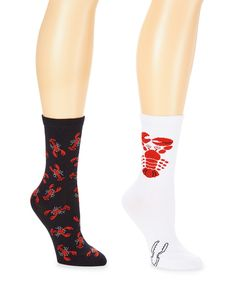 Loving this Black & White Lobsters Two-Pair Socks Set on #zulily! #zulilyfinds
