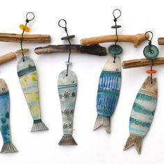 Shirley Vauvelle Driftwood Fish Hangers - CoastalHome.co.uk: Driftwood