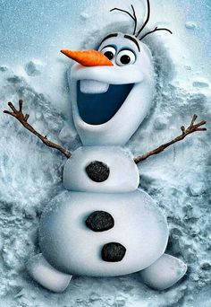 "Olaf from ""Frozen"". Only my new obsession"