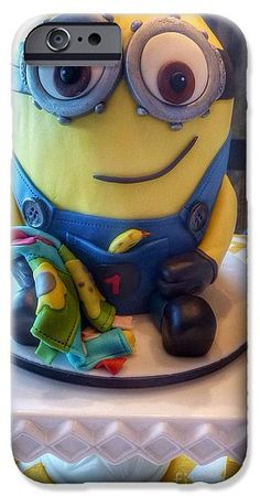 Minion Cake Photograph IPhone 6s Case featuring the photograph Minion Dessert Cake by Susan Garren