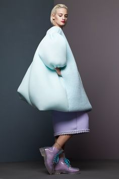 Plump pastel silicone garments moulded from knitwear feature in this collection by Royal College of Art graduate Xiao Li.