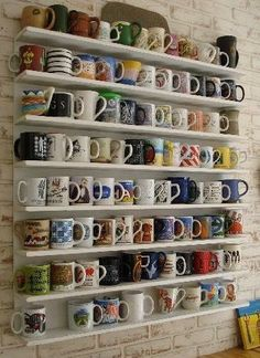 I want a mug shelf but built into the wall between the studs so it's flush.