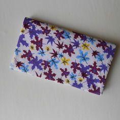 Porte chéquier tissu feuilles