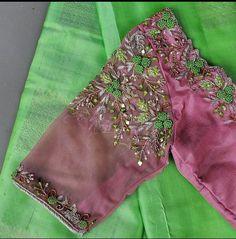 Kids Blouse Designs, Hand Work Blouse Design, Stylish Blouse Design, Pattu Saree Blouse Designs, Blouse Designs Silk, Blouse Patterns, Traditional Blouse Designs, Aari Embroidery, Embroidery Designs