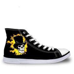 Skull Print Black High Top Men Canvas Shoes - Skullflow    https://www.skullflow.com/collections/skull-shoes/products/skull-print-black-high-top-men-canvas-shoes
