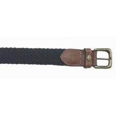 Cinturón en trenzado azul marino y piel marrón de Lottusse 7e2bc0b22f9c
