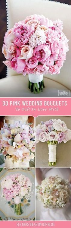 30 Soft Pink Wedding Bouquets To Fall In Love With ❤ These soft pink wedding bouquets could give you so much inspiration! Gentle and feminine colors with perfect accents. So cute and beautiful.http://www.weddingforward.com/pink-wedding-bouquets/ ‎#wedding #bouquets #weddingbouquets