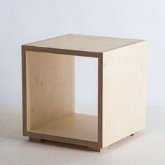 Birch plywood bedside table New Zealand made – The Plywood Box Co.