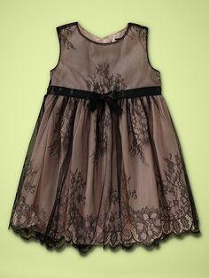 New Baby Gap Girl Black Lace Dress
