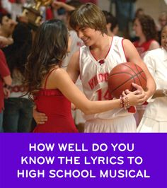 What better way to celebrate High School Musical than by revisiting all your favorite songs from Troy, Gabriella, and all the rest of the Wildcats? See how many of the Disney lyrics you remember. High School Musical Lyrics, High School Musical Quizzes, Hight School Musical, Life Quizzes, Disney Playlist, Troy And Gabriella, Disney Channel Movies, Make Mine Music, What Team