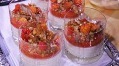 Tjukkmjølkpudding kan du lage på forhånd, og ha klar i kjøleskapet den dagen det er fest. Moltesausen bør lages samme dag den skal spises.