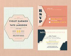 Vintage Pastel Wedding Invitation // DIY Printable Invite & RSVP // Vintage Wedding, Pastel Wedding, Typography Wedding