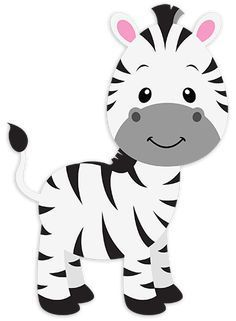 Fantastic drawing of a nice and smiling young zebra. Animals have always fascinated children Safari Party, Jungle Party, Safari Theme, Party Animals, Jungle Animals, Animal Party, Safari Png, Decoration Creche, Jungle Theme Birthday