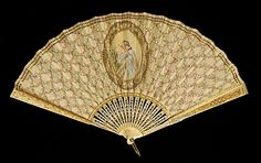Fan, Tiffany & Co. 1900-1915. French. Ivory, silk, sequins, metal. Brooklyn Museum Costume Collection at The Metropolitan Museum of Art.