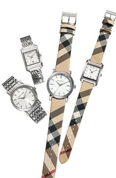 Burberry check watch
