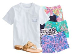 """""""I have the green ones😍"""" by flroasburn ❤ liked on Polyvore featuring Lilly Pulitzer and Jack Rogers"""