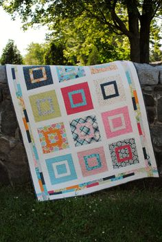 PDF Baby or Lap Quilt Pattern, ...Layer Cake or Fat Quarters, Sweet Jane's Lovie. $9.00, via Etsy... layer cake or fat quarters
