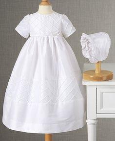 Lauren Madison Baby Dress, Baby Girls Diamond Pleated Christening Dress - Kids - Macy's