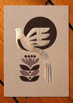New at the shop is this collection of cards by Sanna Anukka. Folk Art Flowers, Flower Art, Diy Arts And Crafts, Bird Art, Clay Art, Ceramic Art, Letterpress, Paper Art, Art Drawings
