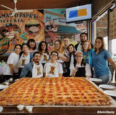 Anyone up for a challenge? Tag 7 of your friends who can help you take on our Giant Sicilian! #BMPP Pizza Challenge Rules: Our contestants have 2 hours to finish our giant Sicilian, max 8 people. If they win, the pizza is on us plus 1000 cash. If they lose, they just pay for the pizza. https://ordernow.bigmamaspizza.com