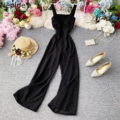 Stylish Dress Designs, Stylish Dresses, Slim Waist, Playsuits, Aliexpress, Jumpsuits For Women, Designer Dresses, Wide Leg, Bodysuit