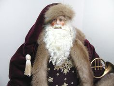 Father+Christmas+Doll+Eggplant+Purple+&+by+FatherChristmasJoy,+$355.00