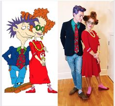 Mahogany Lox & Carlos Esparza's Didi & Stu Pickles 'Rugrats' Costumes Win Halloween Family Costumes For 3, Family Halloween Costumes, Holidays Halloween, Halloween Diy, Halloween Makeup, Halloween Decorations, Group Costumes, Halloween 2019, Homemade Couples Costumes