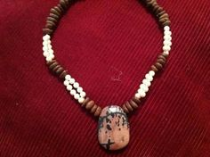 Handmade coffee beans necklaces combine with a Majorca semiprecious pearls,stones, pewter, silver.