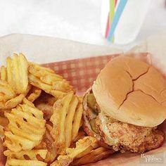 Just like our favorite fast food restaurant, this almost famous chicken sandwich gets a delicious pickle brine.