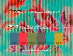 SpringSummer2018 Trend Forecasting for Women, Men, Sports and Intimate apparel - A story of Floral hues and earthy tones www.FashionWebGraphic.com